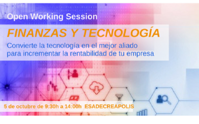 "Open Working Session ""Finanzas y tecnología"" para CEO's inquietos"
