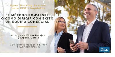 """Open Working Session """"El método Kowalski o cómo dirigir con éxito un equipo comercial"""" para CEO's inquietos"""