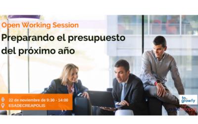 """Open Working Session """"Preparando el presupuesto del próximo año"""""""