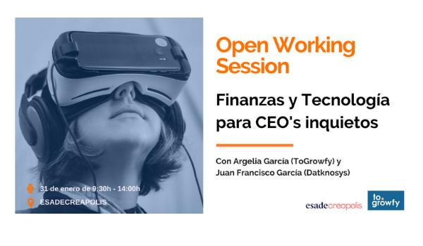 """Open Working Session """"Finanzas y Tecnología"""" para CEO's inquietos"""