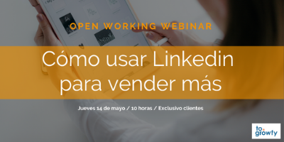 """Open Working Webinar """"Cómo usar Linkedin para vender más"""""""